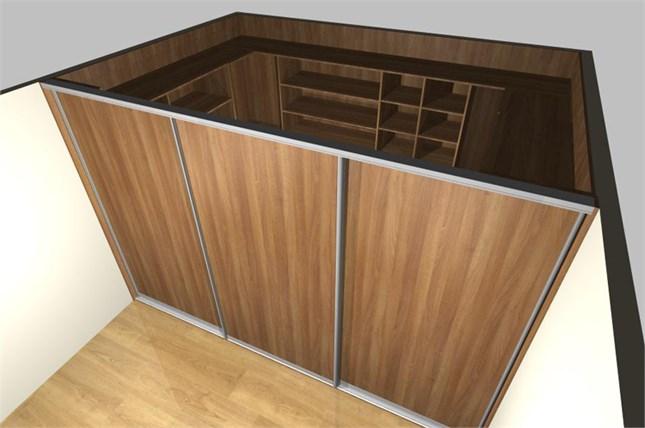 Шкаф купе с независимой лицевой панелью и наполнением – гардеробная комната