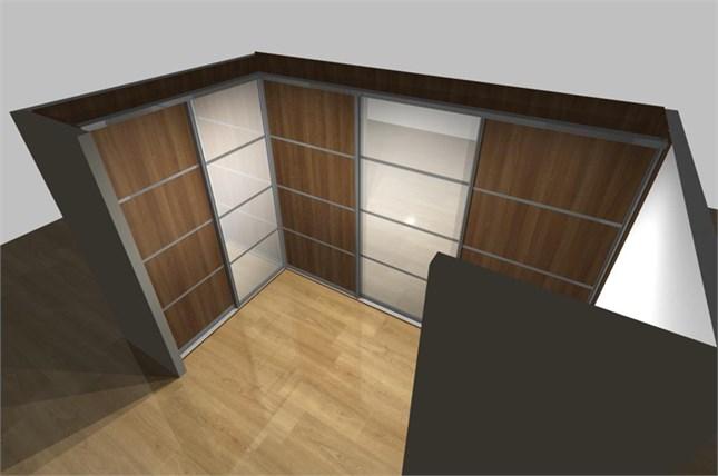 Шкаф купе, зонирующий помещение.