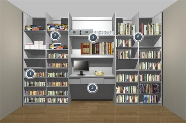 Шкаф купе для хранения книг, дисков, папок